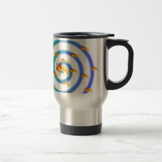 Axolotl vortex blue travel mug