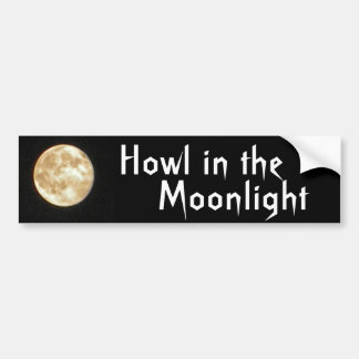 AY- Howl in the Moonlight Bumper Sticker
