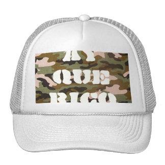 ay que rico camo hat