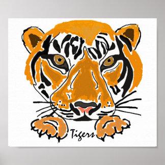 AY- Tiger Leaping Poster