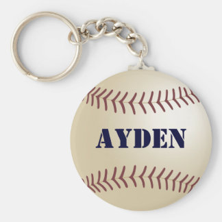 Ayden Baseball Keychain by 369MyName
