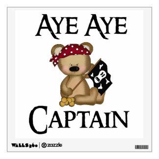 Aye Aye Captain Teddy Bear Wall Decal