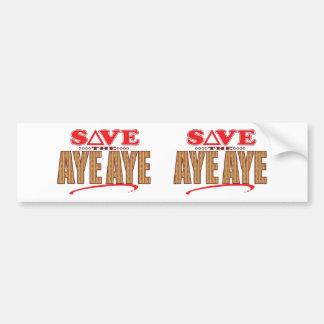 Aye Aye Save Bumper Sticker