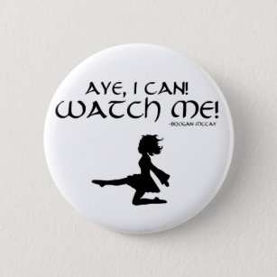 Irish Dancing Metal Pin Badge TREBLE MAKER Dance