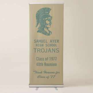 Ayer Class of '77 40th Reunion Trojan Retractable Banner