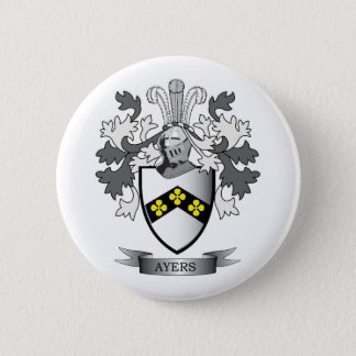 Ayers Family Crest Coat of Arms 2 Inch Round Button