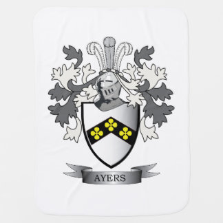 Ayers Family Crest Coat of Arms Baby Blanket