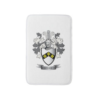 Ayers Family Crest Coat of Arms Bath Mat
