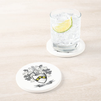 Ayers Family Crest Coat of Arms Coaster