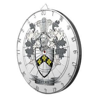 Ayers Family Crest Coat of Arms Dartboard