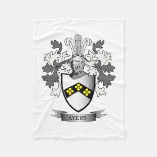 Ayers Family Crest Coat of Arms Fleece Blanket