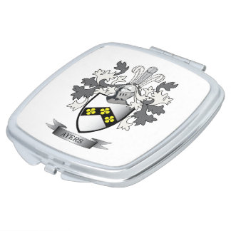 Ayers Family Crest Coat of Arms Mirror For Makeup