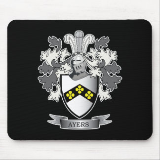 Ayers Family Crest Coat of Arms Mouse Pad