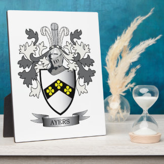 Ayers Family Crest Coat of Arms Plaque
