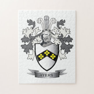 Ayers Family Crest Coat of Arms Puzzle