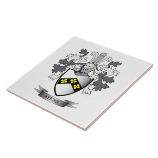 Ayers Family Crest Coat of Arms Tile