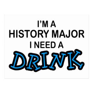 Ayez besoin d'une boisson - commandant d'histoire carte postale