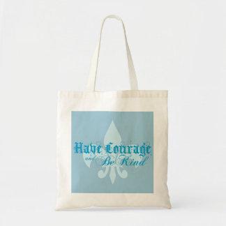 Ayez le courage et soyez - Fleur-De-Lis - bleu Sac En Toile Budget