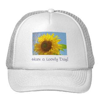 Ayez un beau jour ! le tournesol jaune de chapeau  casquette