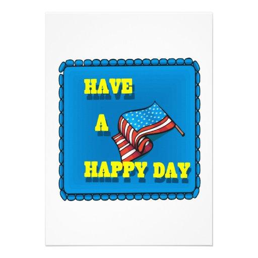 Ayez un jour heureux cartons d'invitation personnalisés