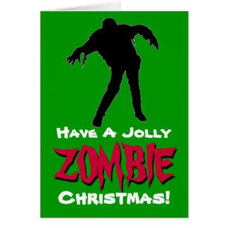 Ayez une carte de Noël gaie de zombi le vert