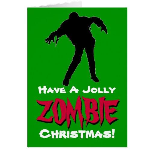 Ayez une carte de Noël gaie de zombi (le vert)