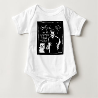Ayn Rand and Her Chain Smokin' Weasel! Baby Bodysuit