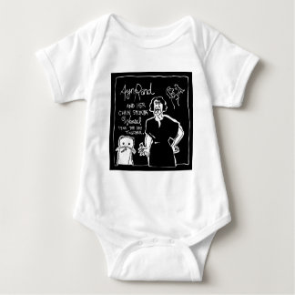 Ayn Rand and Her Chain Smokin' Weasel Baby Bodysuit