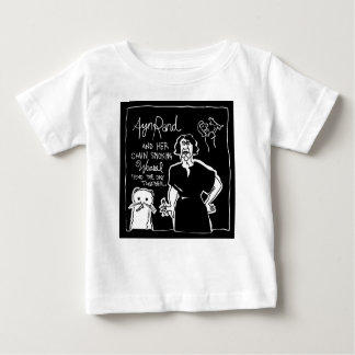 Ayn Rand and Her Chain Smokin' Weasel! Baby T-Shirt