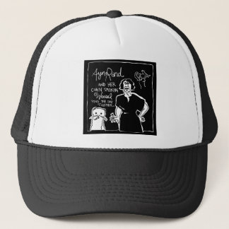 Ayn Rand and Her Chain Smokin' Weasel Trucker Hat
