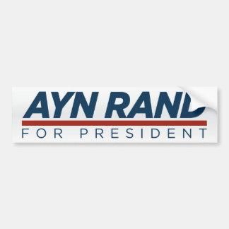 Ayn Rand for President Bumper Sticker