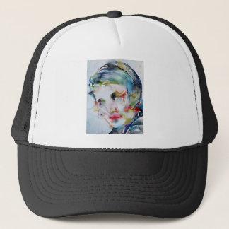 ayn rand - watercolor portrait trucker hat