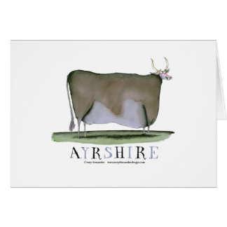 ayrshire cow, tony fernandes cards