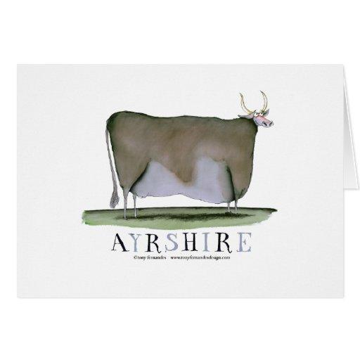 ayrshire cow, tony fernandes cards