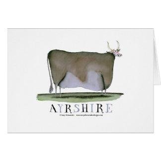 ayrshire cow, tony fernandes greeting card