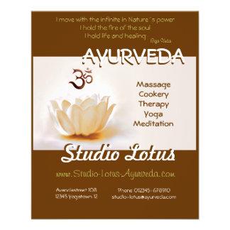 Ayurveda Yoga publicitie flyer Lotus with Om