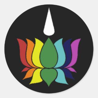 Ayyavazshi Lotus Classic Round Sticker