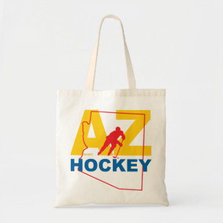 AZ Arizona Hockey Player State Tote Bag