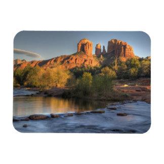 AZ, Arizona, Sedona, Crescent Moon Recreation 3 Rectangular Photo Magnet