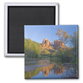 AZ, Arizona, Sedona, Crescent Moon Recreation Square Magnet
