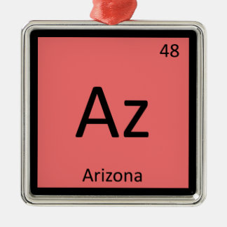 Az - Arizona State Chemistry Periodic Table Symbol Metal Ornament