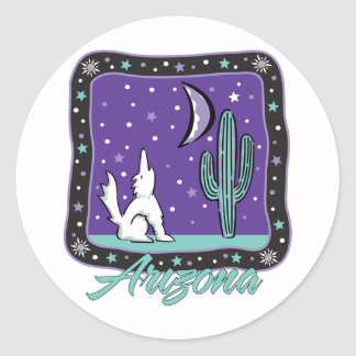 AZ-Coyote Classic Round Sticker