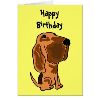 AZ- Funny Bloodhound Birthday Card
