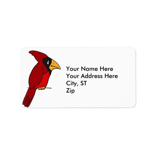 AZ- Funny Cardinal Address labels