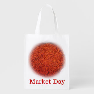 Azafran -Organic Market Day Reusable Grocery Bag