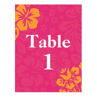 Azalea Beach Flowers Table Numbers Postcard