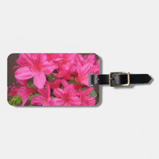 Azalea Dark Pink Close Luggage Tag
