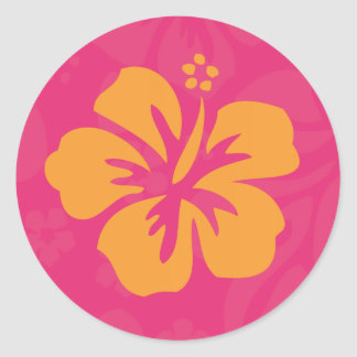 Azalea Orange Hibiscus Sticker