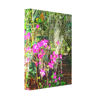 Azalea Path Bok Tower Gardens Lake Wales Florida Canvas Print