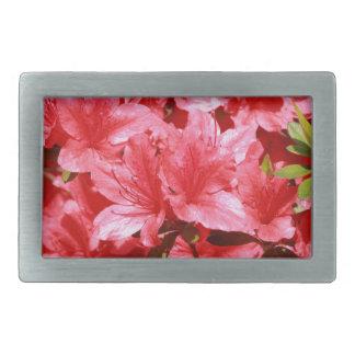 azalea red flowers belt buckles